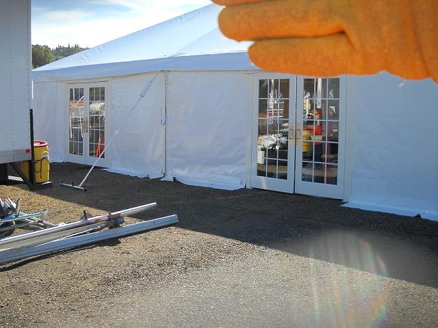 40 wide tent set up 045