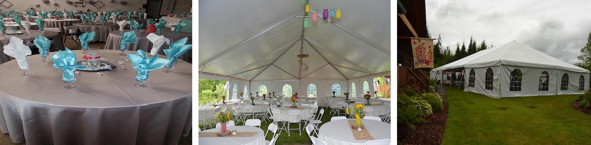 event rentals in Olympia Washington, Tacoma, Tumwater, Lakewood, Centralia WA