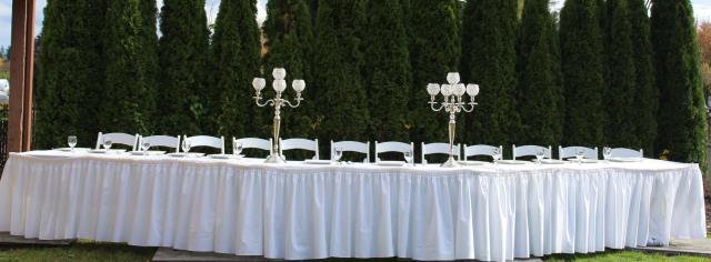 Where to find BRIDAL HEAD TABLE, WITH SKIRTING PACKAGE in Lacey