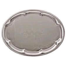 Where to find SERVING TRAY,STAINLESS-OVAL in Lacey