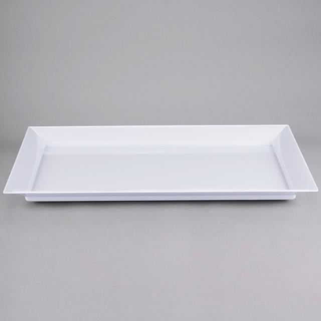 Where to find PLATTER, 26  X 18 , WHITE MELAMINE in Lacey