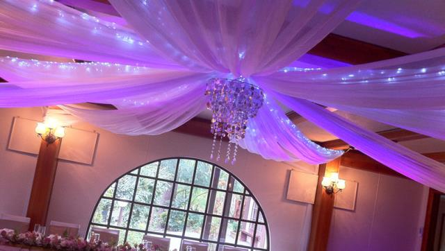Where to find CEILING DRAPE, WHITE - 85FT in Lacey