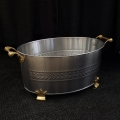 Rental store for STAINLESS BEVERAGE TUB, OVAL W BRASS in Lacey WA