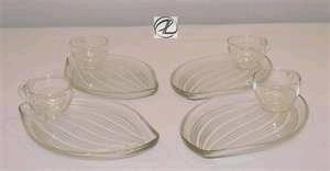 Where to find RECEPTION PLATE WITH CUP, GLASS-LEAVES in Lacey